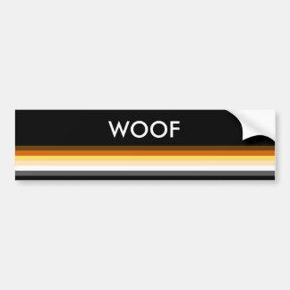 Modern Cool and Elegant Gay Bear Pride Flag WOOF Bumper Sticker