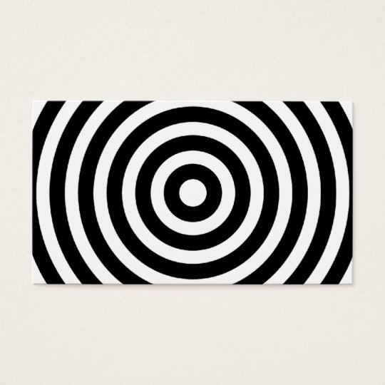 Modern Cool Black and White Circles Business Card