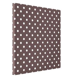 Modern, cool  coffee, espresso polka dots. canvas print