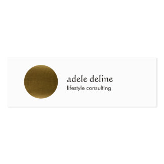 Modern Cool Copper Circle Consultant Double-Sided Mini Business Cards (Pack Of 20)