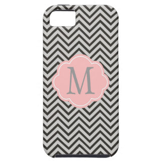 Modern, cool, dark coffee and grey chevron iPhone 5 covers