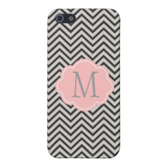 Modern, cool, dark coffee and grey chevron covers for iPhone 5