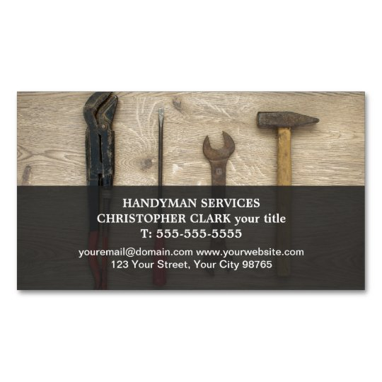 Modern cool hand tools handyman magnetic business card magnet modern cool hand tools handyman magnetic business card magnet colourmoves