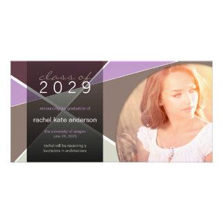 Modern Cool Hip Stylish Fun Criss Cross Graduation Personalized Photo Card