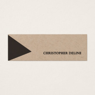 Modern Cool Kraft Paper Grey White Geometric Mini Business Card