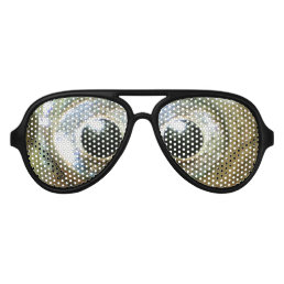 modern cool nerdy crazy crossed eyed goldfish eyes aviator sunglasses