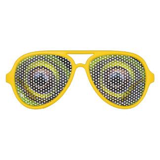 modern cool nerdy crazy lizard eyes aviator sunglasses