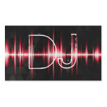 Modern Cool Professional DJ Double-Sided Standard Business Cards (Pack Of 100)