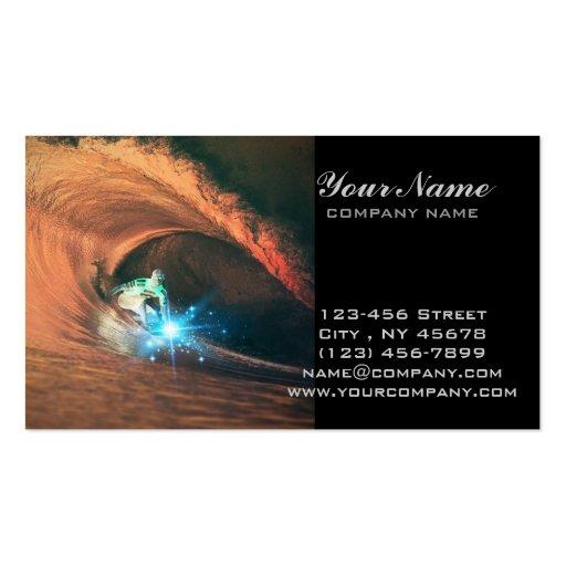 modern cool sporty surfing surfer beach business card templates