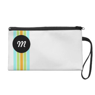 Modern cool stationery with monogram wristlet purse