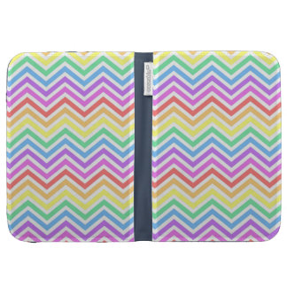 Modern cool trendy colorful rainbow chevron kindle 3 covers