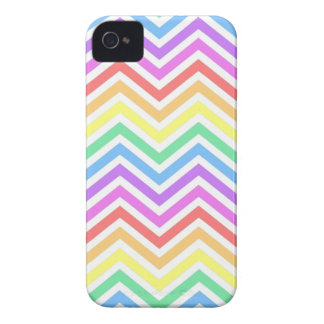 Modern, cool, trendy colorful rainbow chevron iPhone 4 Case-Mate cases