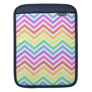 Modern, cool, trendy colorful rainbow chevron sleeve for iPads