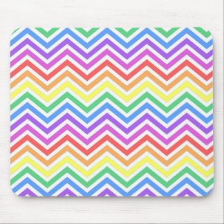 Modern cool trendy colorful rainbow chevron mousepad