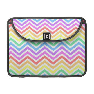Modern, cool, trendy colorful rainbow chevron sleeve for MacBooks