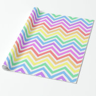 Modern, cool, trendy colorful rainbow chevron wrapping paper