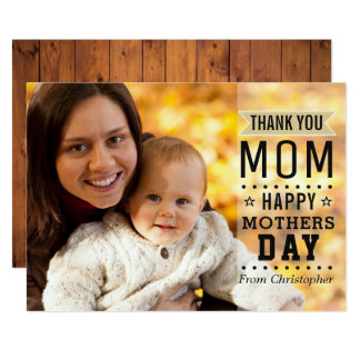 Modern Cool Typography Happy Mother's Day Photo Card