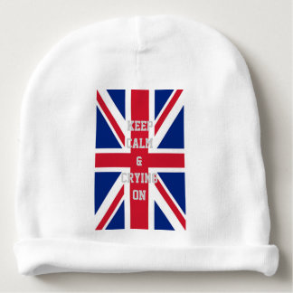 modern cool union jack flag london fashion baby beanie