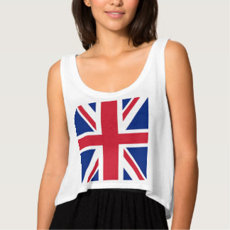 modern cool union jack flag london fashion tank top