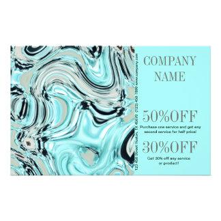 modern cool water beauty SPA aqua blue Flyer
