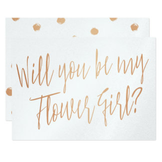 "Modern Cooper ""Will you be my flower girl"" Card"