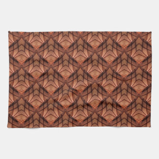 Modern Copper Colored Pattern 034 Kitchen Towel