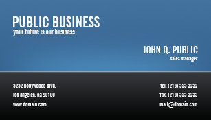 Blue business cards templates zazzle modern corporate black and blue business card colourmoves