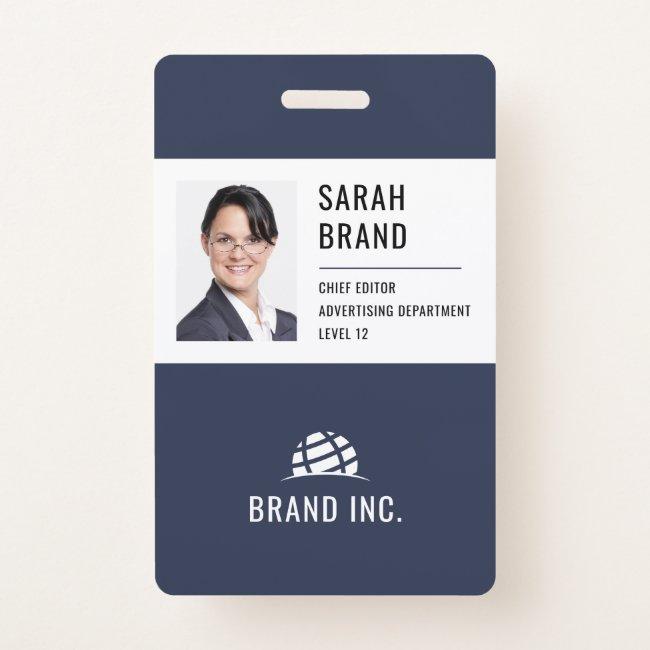 Modern Corporate Business ID Badge