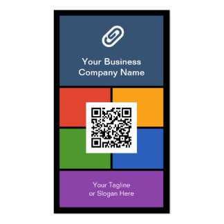 Modern Corporate Metro Style Design with QR Code Double-Sided Standard Business Cards (Pack Of 100)