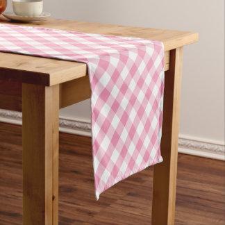 Modern Country Gingham Check Pattern Short Table Runner