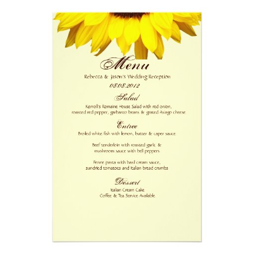 modern country wedding yellow Sunflower burlap Stationery Design
