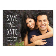 Modern Couple photo save the date card