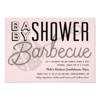 Modern Couples Baby Shower Barbecue Invitation