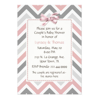 Modern Couple's Baby Shower Invitation