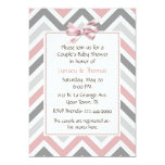 "Modern Couple's Baby Shower Invitation 5"" X 7"" Invitation Card"