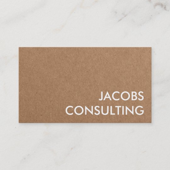 Modern Craft Paper Texture Business Card Zazzle