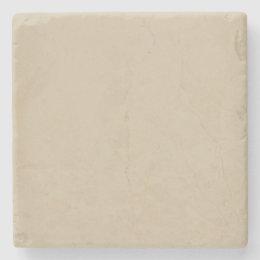 Modern Cream Ivory Customizable Stone Coaster