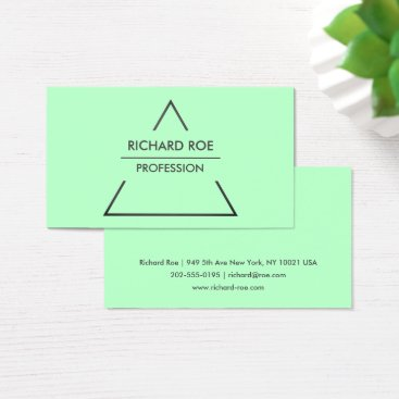 Professional Business Modern Creative Green Professional Business Cards