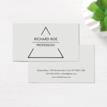 Modern Creative Grey Professional Business Cards