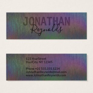 Hologram business cards templates zazzle modern creative holographic metal business card colourmoves