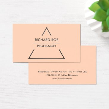 Professional Business Modern Creative Orange Professional Business Cards