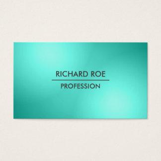 Modern Creative Professional Cyan Business Cards