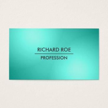 USA Themed Modern Creative Professional Cyan Business Cards
