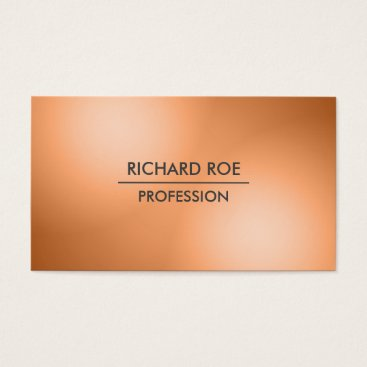 USA Themed Modern Creative Professional Orange Business Cards