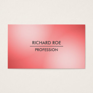 Modern Creative Professional Red Business Cards