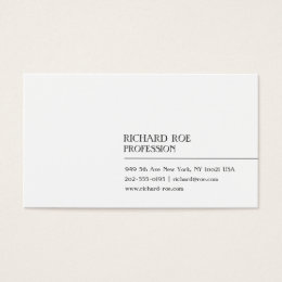 Modern Creative Professional White Business Cards