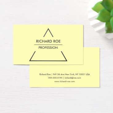 Professional Business Modern Creative Yellow Professional Business Cards