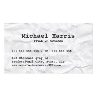 Modern crumpled crease paper business card