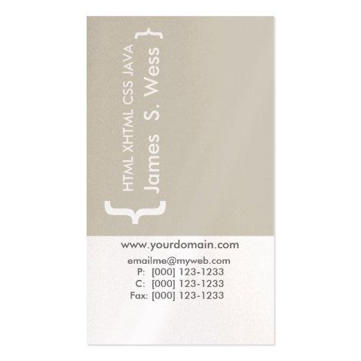 Modern CSS HTML Computer Programer Business Card