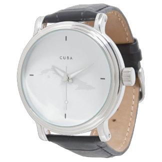 Modern: Cuba Map Wrist Watches